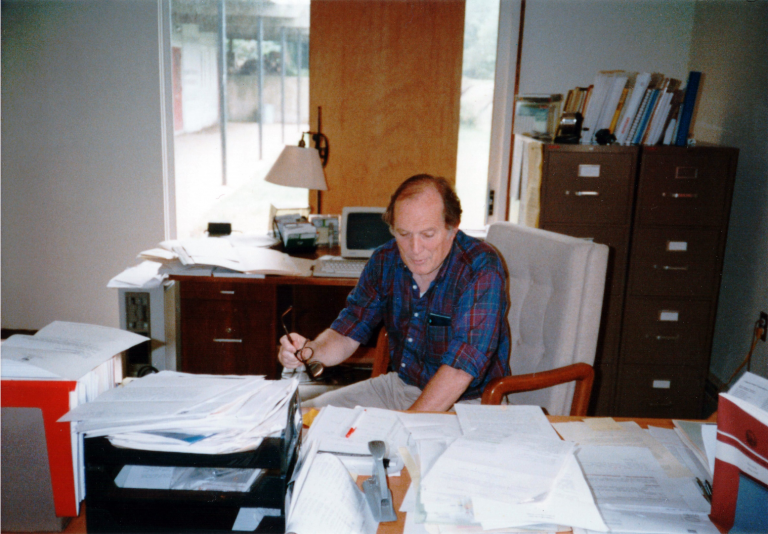 Dr. George Woodwell at his desk
