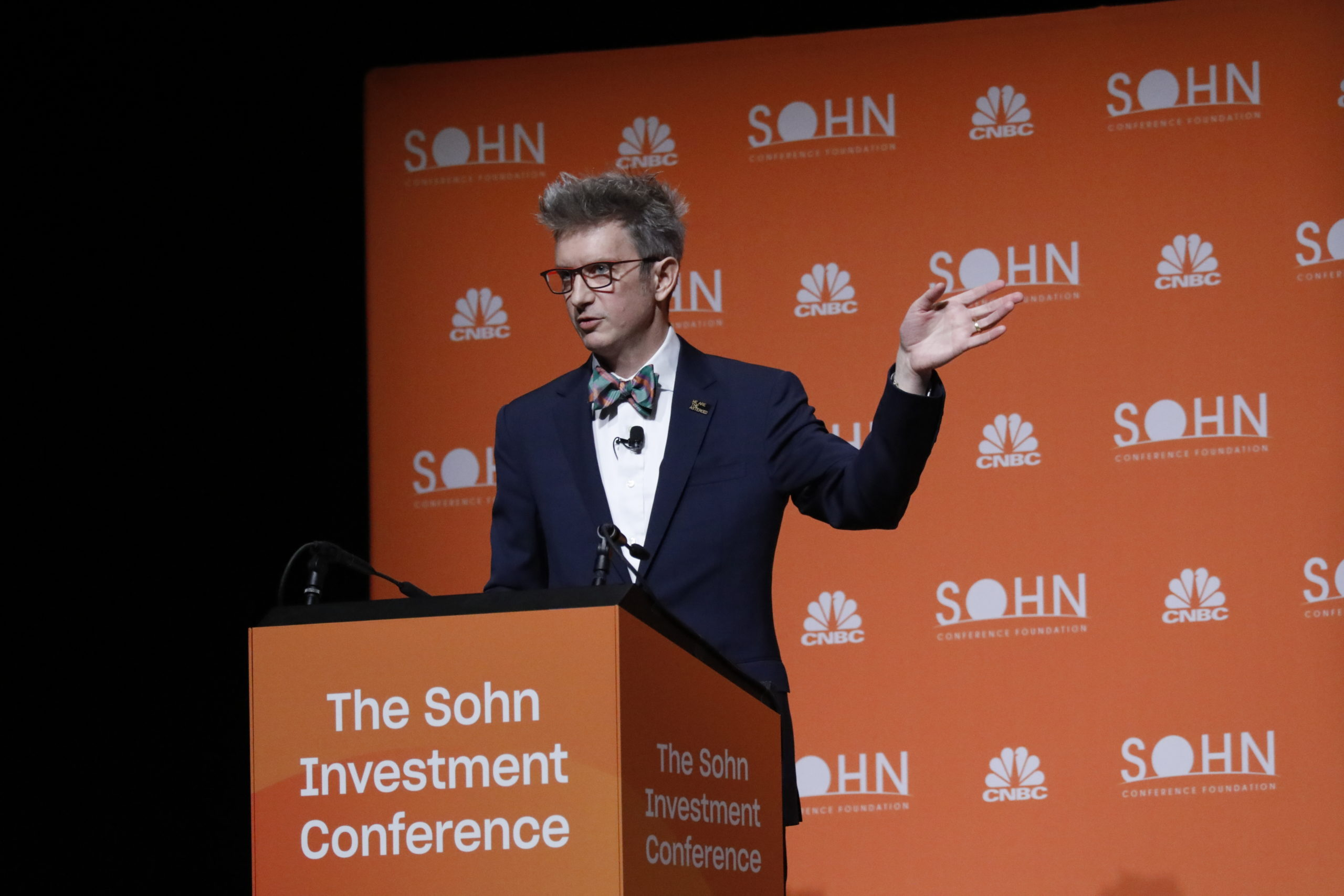 Spencer Glendon at the Sohn Investment Conference in NYC, 2019