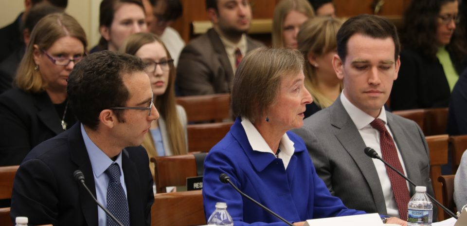 Dr. Jen Francis testifying to Congress.