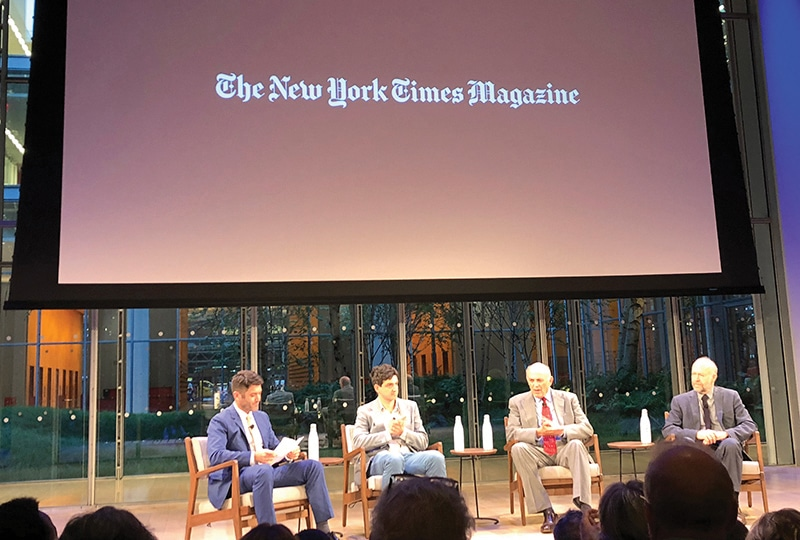 New York Times Magazine panel discussion on the August 2018 Losing Earth edition.