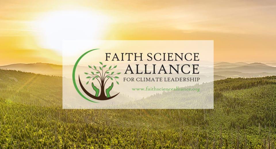 Faith Science Alliance logo on sunrise background