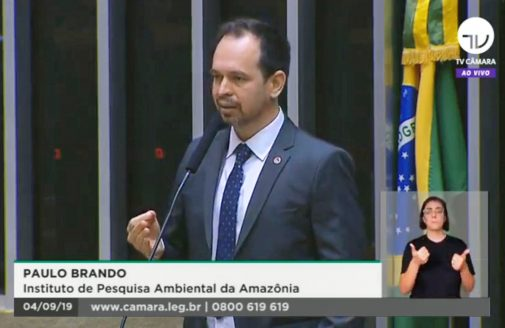 Dr. Paulo Brando testifying about Amazon deforestation and firesbefore the Brazilian congress