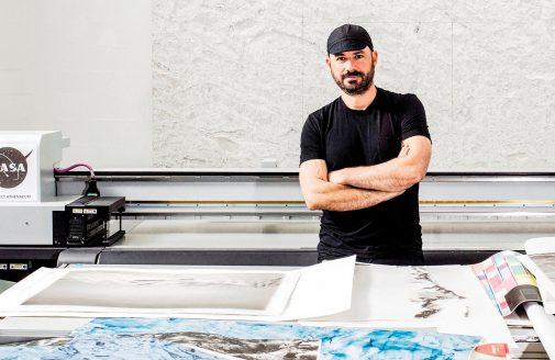 Justin Guariglia in his studio.