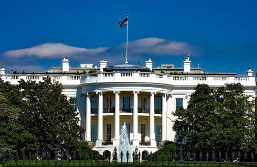 Stock image of the White House.