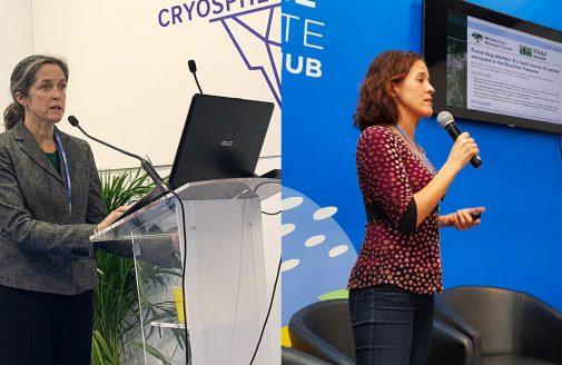 Sue Natali and Marcia Macedo present at COP25.