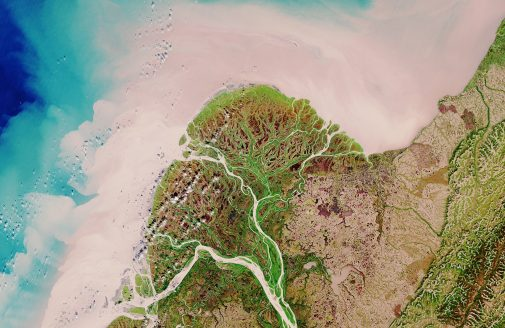 Image of the Yukon River Delta