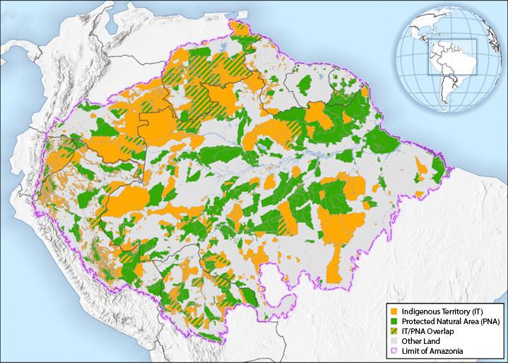 Map of Amazonia land tenure.