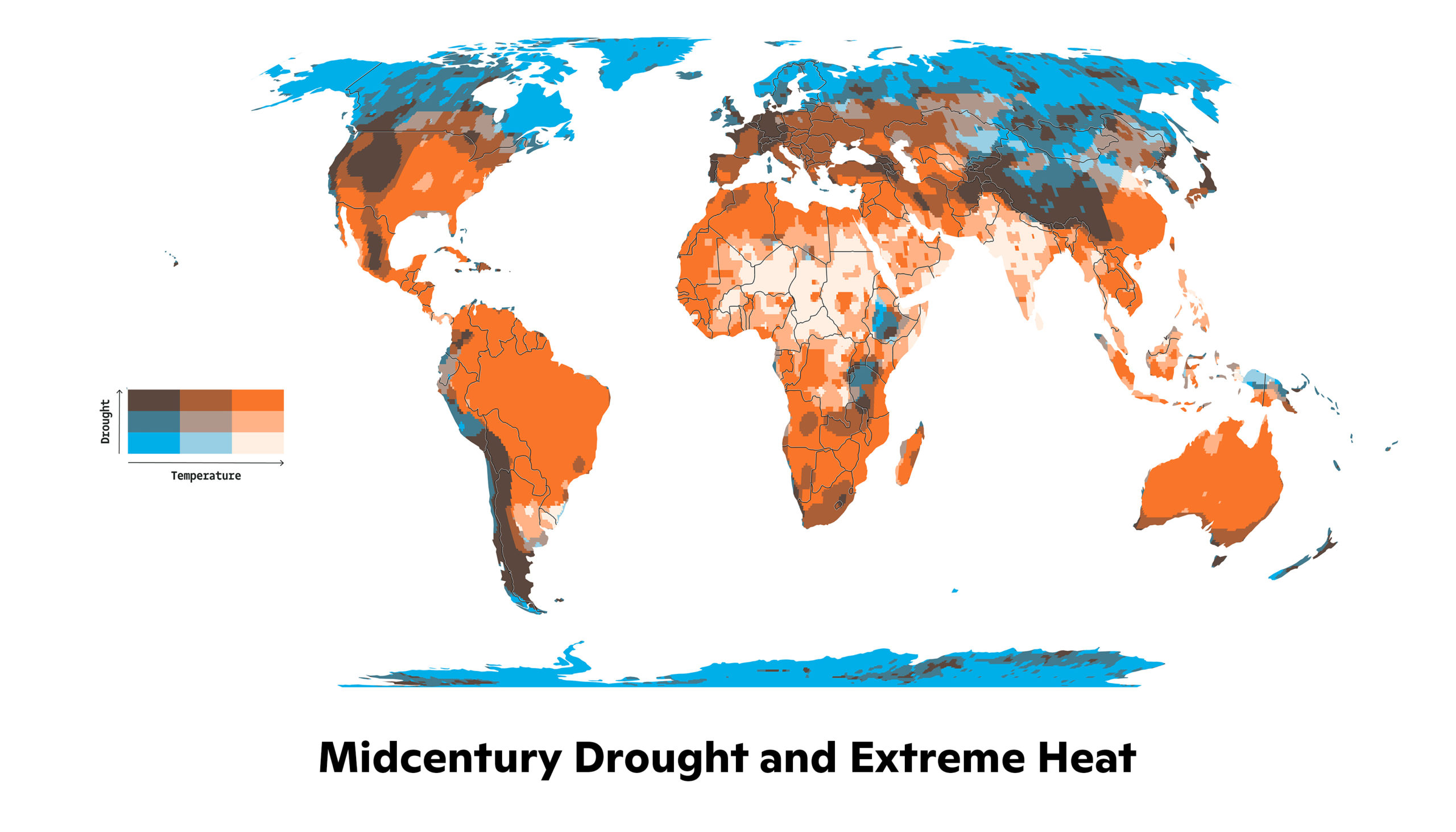 midcentury drought and extreme heat map