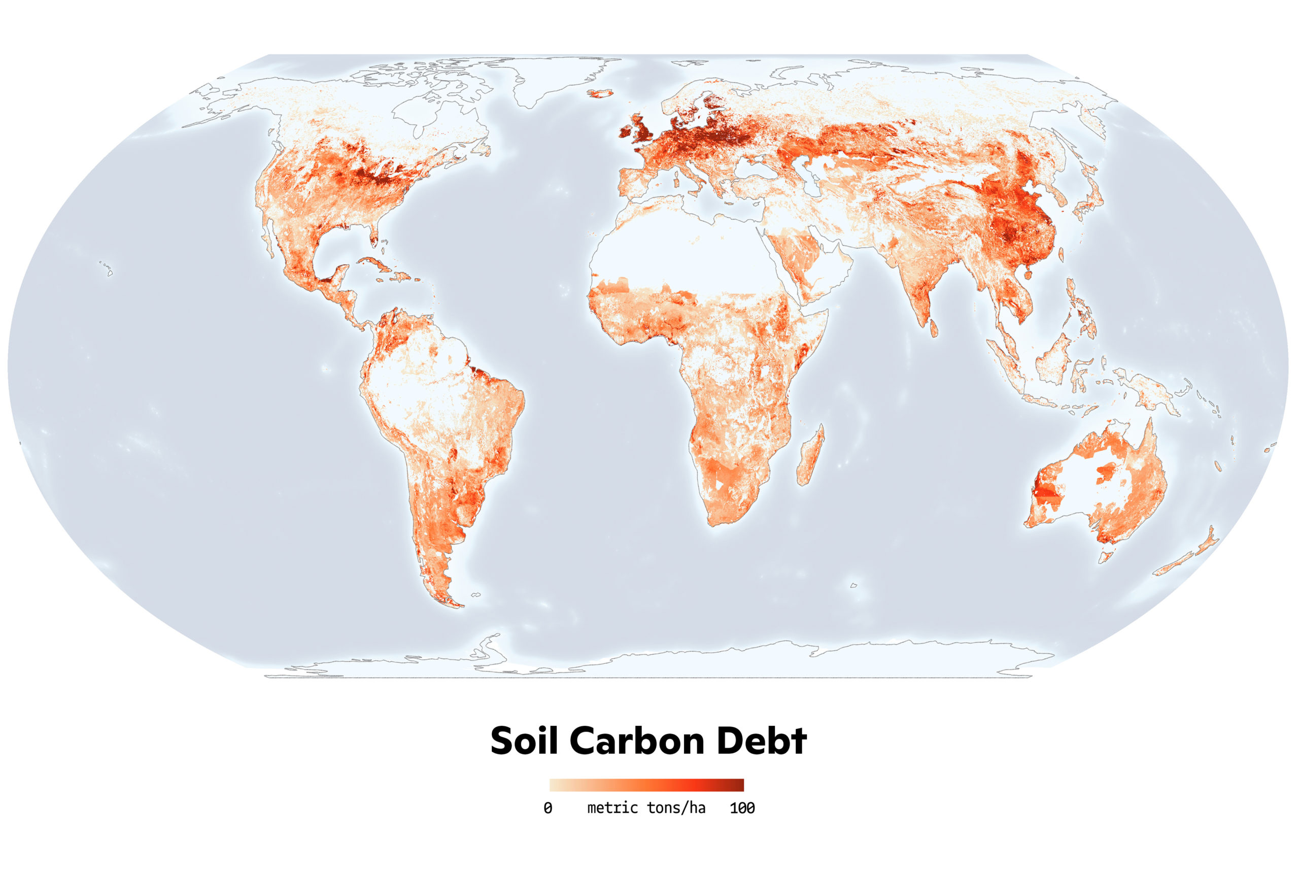 soil carbon debt map