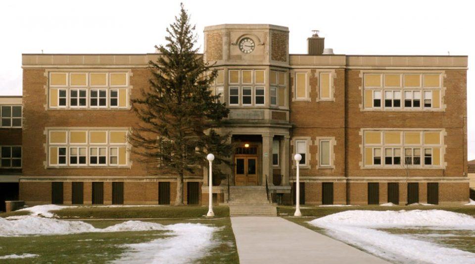 School building in Wellington, Ontario.