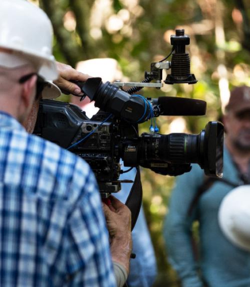 Film crew at Tanguro Ranch.