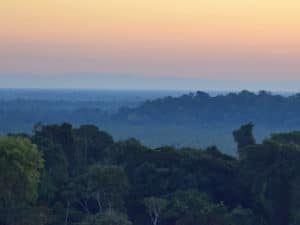Mountaintop view of Amazon forest