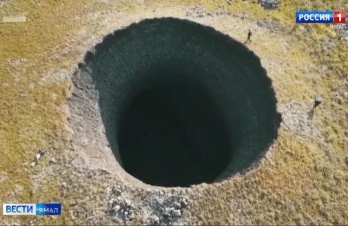 siberia methane permafrost crater