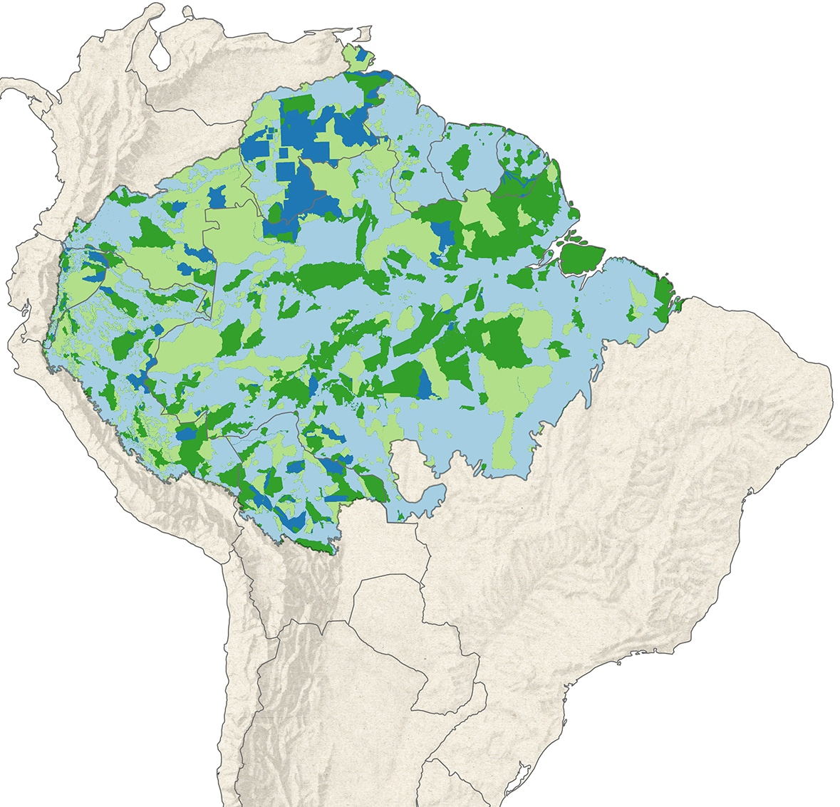 Amazon land ownership map