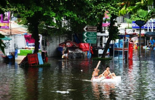 Flooding in the streets of Bangkok in 2011.