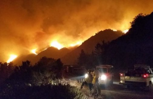 Dolan Fire First Night Aug 18, 2020. Photo Credit: David Halterman