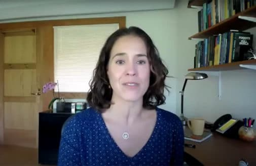 Marcia Macedo speaking during the Amazon deforestation webinar