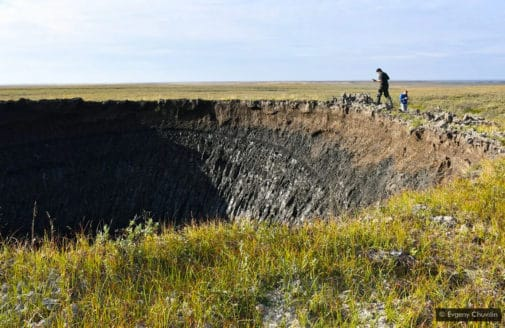 Siberian methane crater photo by Evgeny Chuvilin