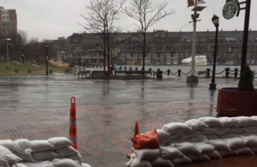 2018 Boston high tide flooding photo by Erik Lund