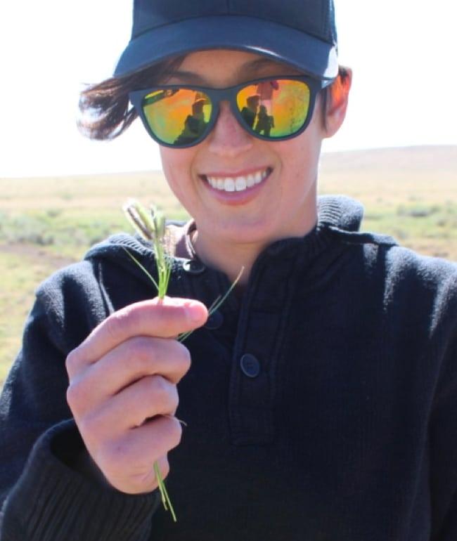 Rachel Rubin in the field
