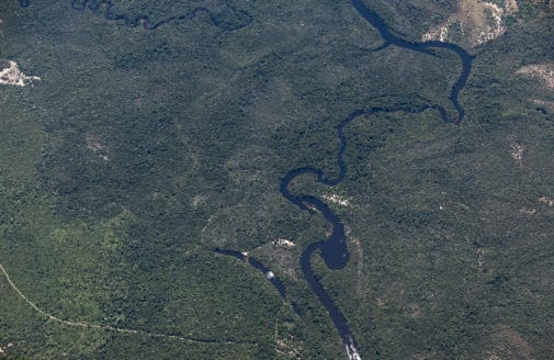 high aerial photo of Amazon forest by Paulo Brando