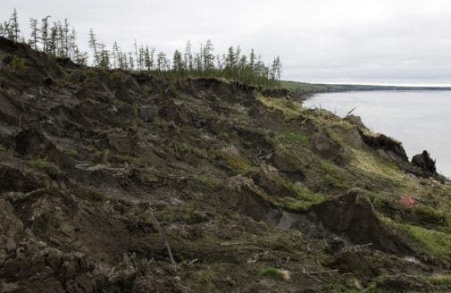 Thawing coastal permafrost