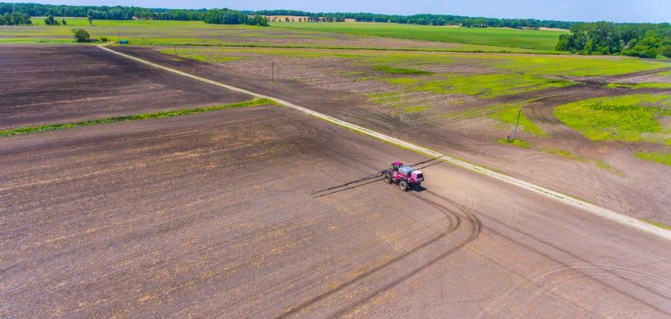 Field spraying in southwest Michigan.