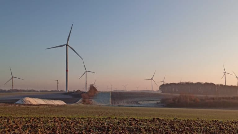windmills on agricultural land