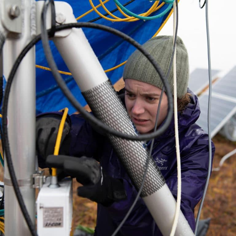installing a flux tower in Alaska