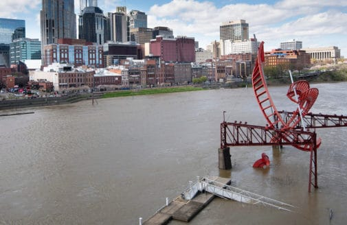 Flooding in Nashville, TN, March 2021. photo by George Walker IV / The Tennessean