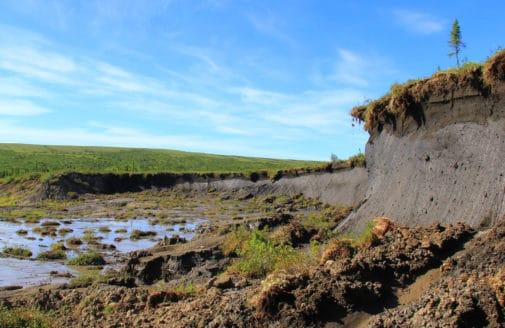 slumped permafrost in Alaska / photo by Scott Zolkos