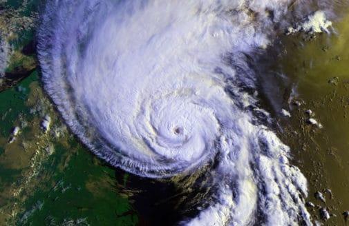 Hurrican satellite view