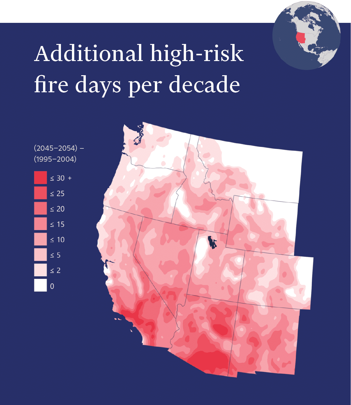 Fire risk map of the western U.S.