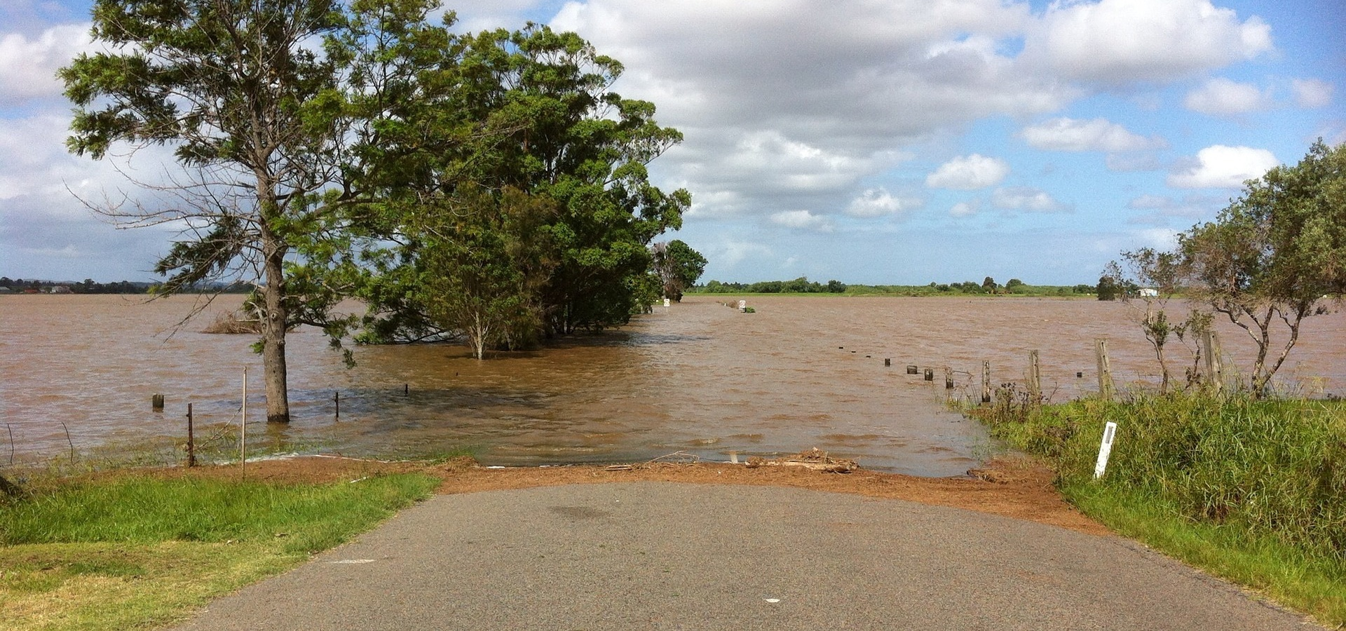 impassible flooded road