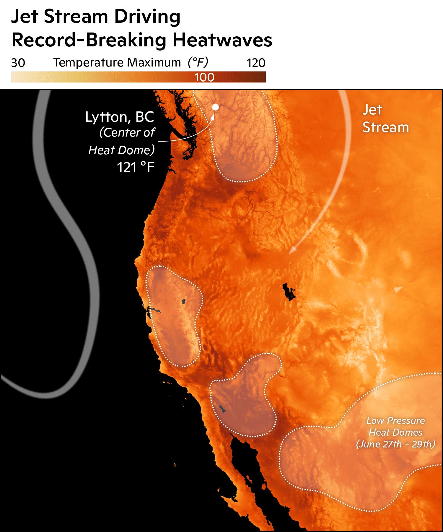 jet stream block causing heat dome in pacific northwest
