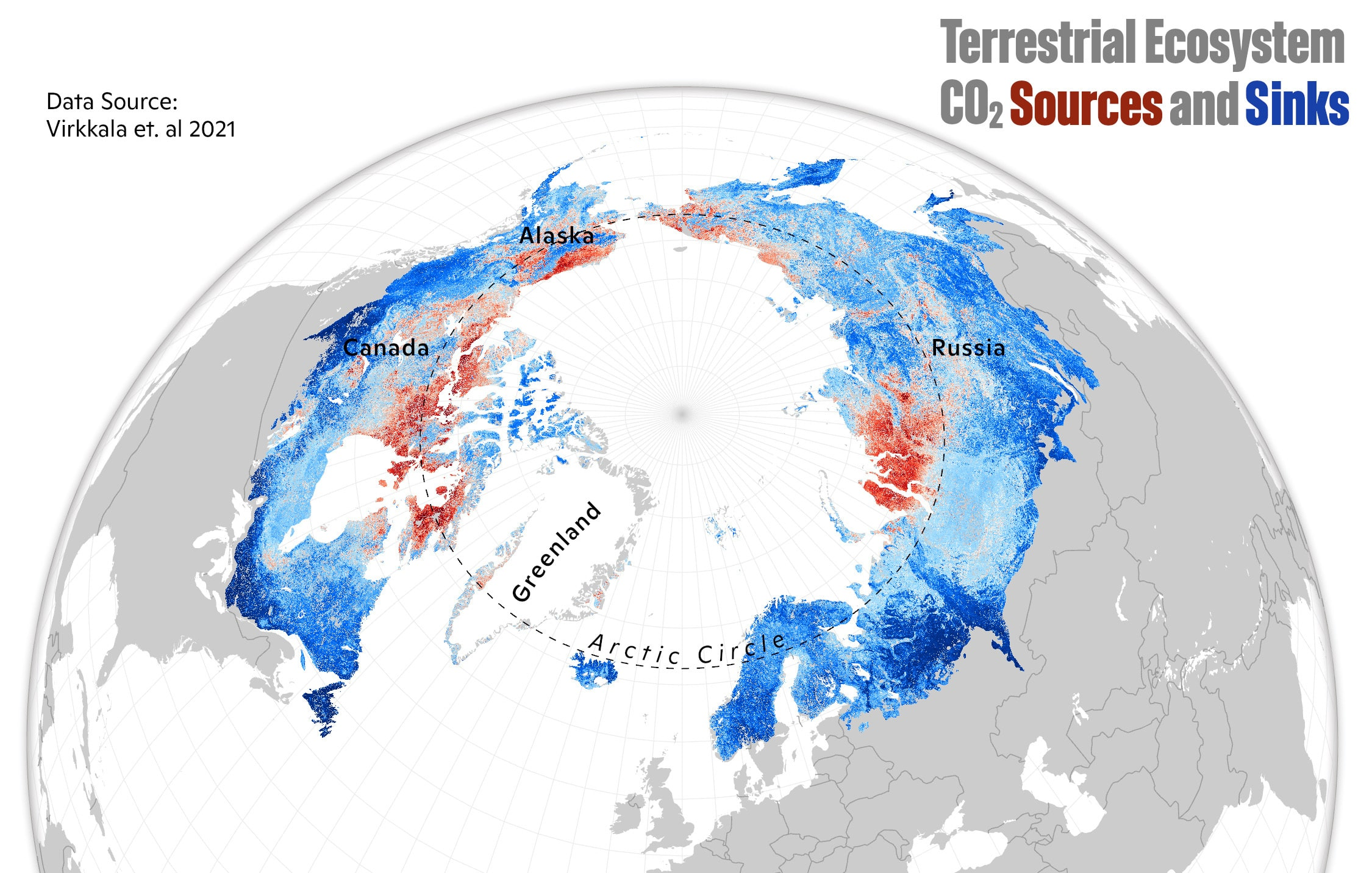 arctic and boreal co2 flux map