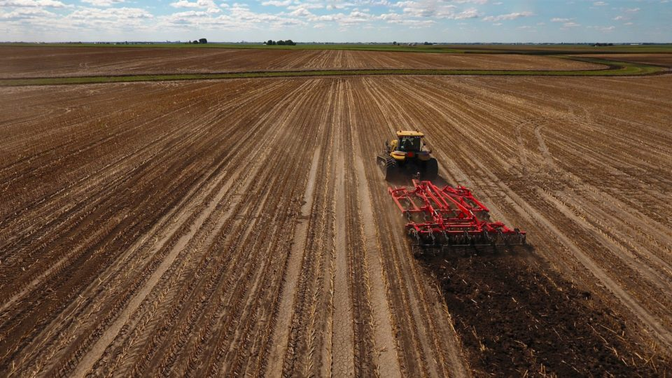 Plowing a large field
