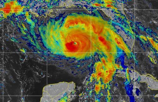 sattelite imagery of hurricane Ida