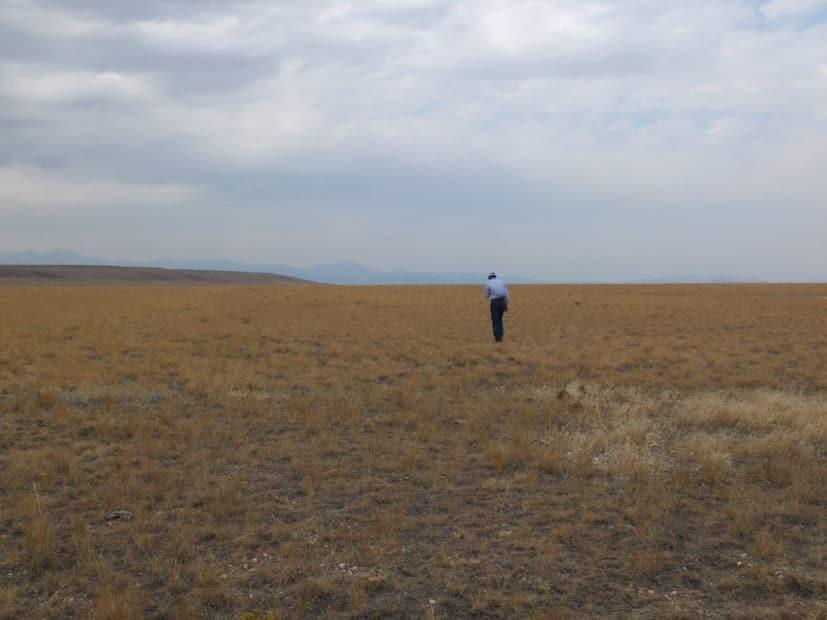man standing on ranch near Bozeman Montana